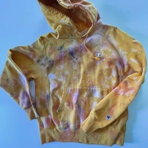 Champion Reverse Weave Pullover Hoodie Tie Dyed M